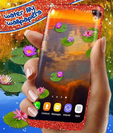 Water Lily Live Wallpaper 🌺 Flowers Wallpapers 5 تصوير الشاشة