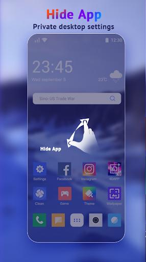 U Launcher Lite-New 3D Launcher 2020, Hide apps screenshot 5