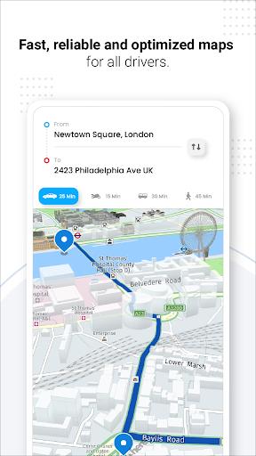 Navegação GPS ao vivo, mapas, direções e explorar screenshot 9