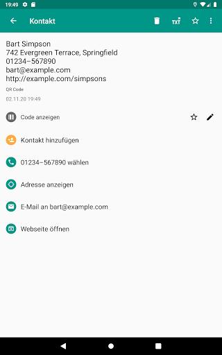 QR & Barcode Scanner (Deutsch) screenshot 10