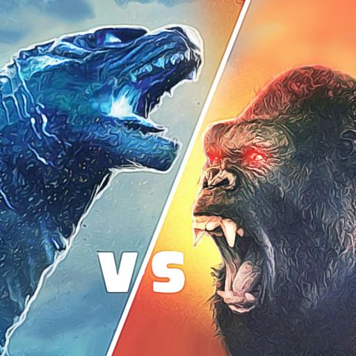 Monster Gorilla Attack-Godzilla Vs King Kong Games icon