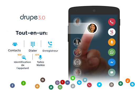 Contacts & Téléphone - drupe screenshot 1