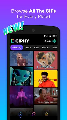 GIPHY: GIF & Sticker Keyboard & Maker screenshot 1