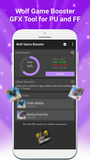Wolf Game Booster & GFX Tool for PU and FF screenshot 1