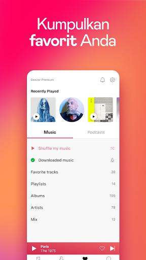 Deezer - Musik, Daftar Putar & Podcast screenshot 7