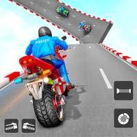 Police Bike Stunt Games on 9Apps