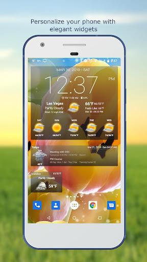 Hava ve saat Widget için Android (Hava durumu) screenshot 1