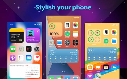 Phone 13 Launcher, OS 15 Launcher, Control Center screenshot 12