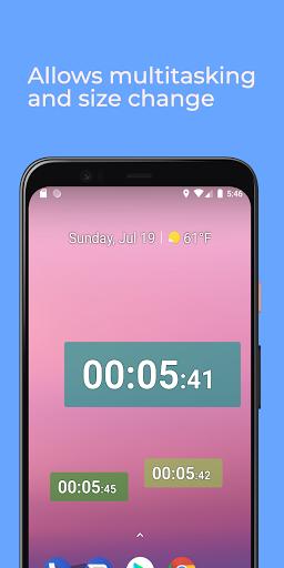 Floating Stopwatch, timer multitasking gratuito screenshot 1