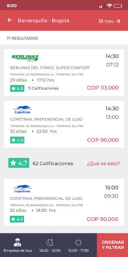 redBus - Pasajes de Bus Online en Perú y Colombia screenshot 3