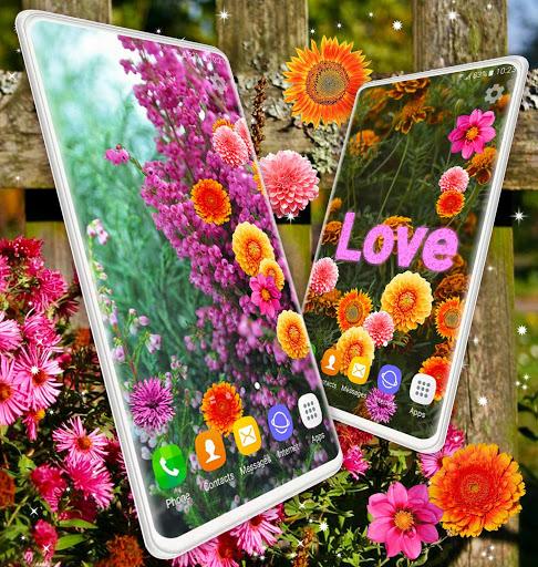 Autumn Flowers 4K Live Wallpaper ❤️ Forest Themes 8 تصوير الشاشة