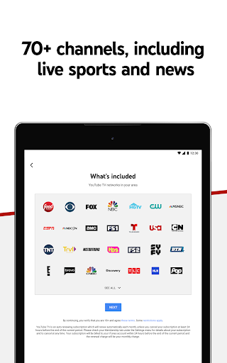 YouTube TV: Live TV & more screenshot 12