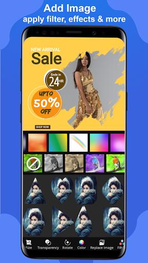 Poster Maker 2021 Video, ads, flyer, banner design screenshot 4