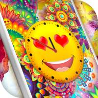 Emoji Clock Live Wallpaper Free 😍 Neon Wallpapers on 9Apps