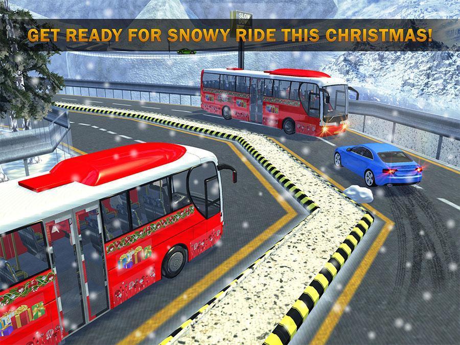 Uphill Bus Drive : Christmas Bus Simulator screenshot 9