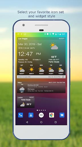 Hava ve saat Widget için Android (Hava durumu) screenshot 2