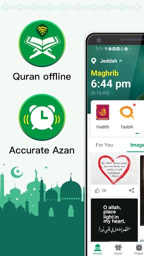 Muslim Prayer Times, Azan, Quran&Qibla By Vmuslim screenshot 1