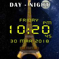 Day night automatic change clock wallpaper on 9Apps