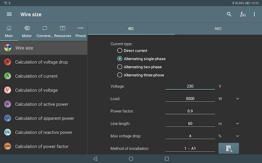 Electrical Calculations screenshot 8