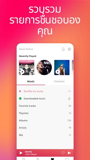Deezer - เพลง เพลย์ลิสต์ และพอดคาสต์ screenshot 7