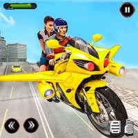 Real Flying Bike Taxi Sim 2021 on APKTom