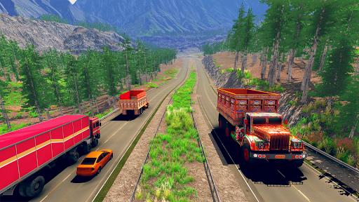 Asian Truck Sim 2020: juegos de conducción screenshot 4