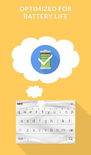 Wave Keyboard Background - Animations, Emojis, GIF screenshot 8