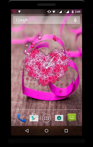 Heart Clock Live Wallpaper screenshot 7