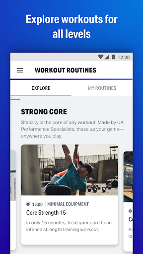 Map My Fitness Workout Trainer screenshot 1