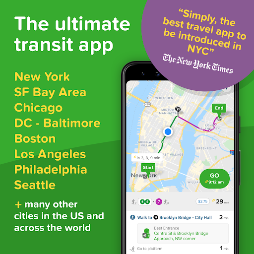 Citymapper: Directions For All Your Transportation screenshot 1