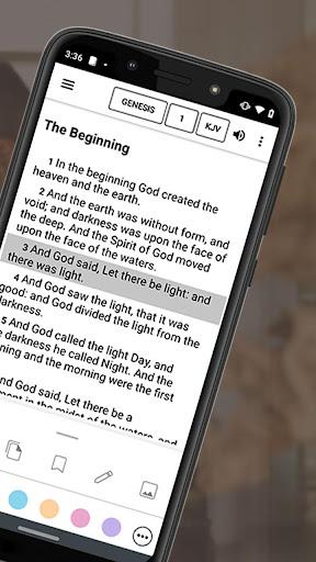 Bible Offline App Free   Audio, KJV, Daily Verse 2 تصوير الشاشة