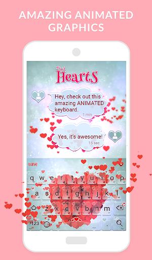 Wave Keyboard Background - Animations, Emojis, GIF screenshot 1