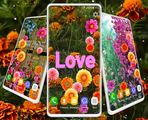Autumn Flowers 4K Live Wallpaper ❤️ Forest Themes 7 تصوير الشاشة