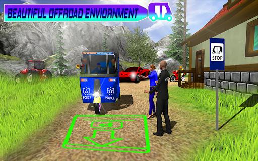Police Tuk Tuk Auto Rickshaw Driving Game 2021 screenshot 5