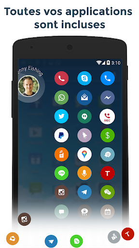 Contacts & Téléphone - drupe screenshot 6