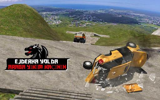 Ejderha Yol Sürme Simülatör: hız araba kaza Ölçek screenshot 18