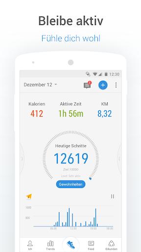 Schrittzähler-Pedometer & Kalorienzähler Kostenlos screenshot 1