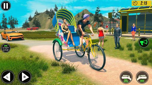 Bicycle Tuk Tuk Auto Rickshaw : Driving Games screenshot 2