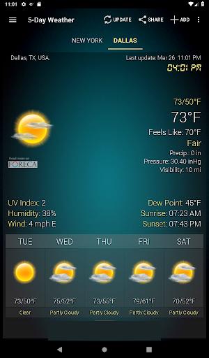 Hava ve saat Widget için Android (Hava durumu) screenshot 10