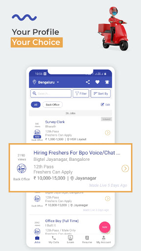WorkIndia Job Search App - Work From Home Jobs 4 تصوير الشاشة