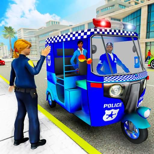 Police Tuk Tuk Auto Rickshaw Driving Game 2021