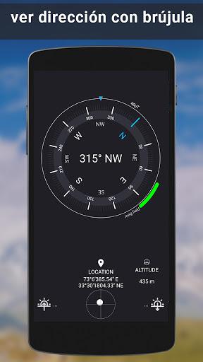 GPS satélite - En Vivo tierra mapas Y voz náutica screenshot 6