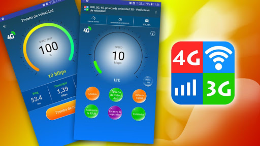 WiFi, 5G, 4G, 3G Speed Test -Speed Check - Cleaner screenshot 1