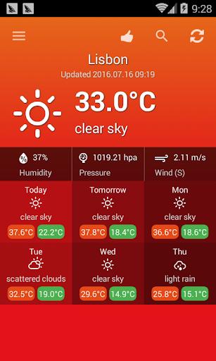 Weather Portugal screenshot 1