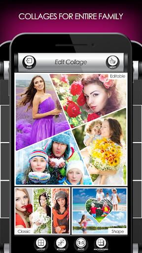 penyunting foto bunga: bingkai, pelekat & kolaj screenshot 7