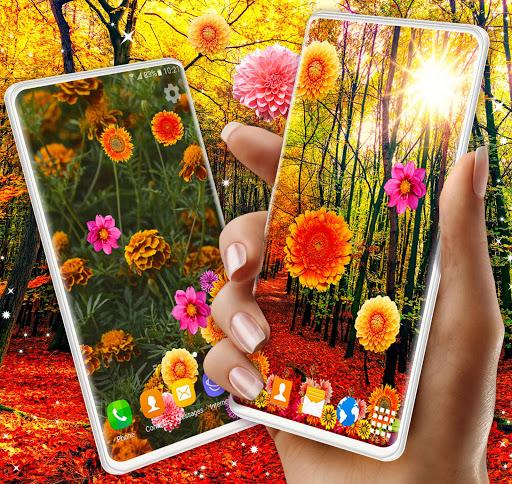 Autumn Flowers 4K Live Wallpaper ❤️ Forest Themes 1 تصوير الشاشة
