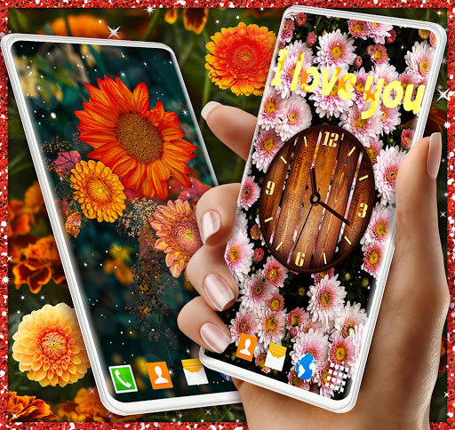 Autumn Flowers 4K Live Wallpaper ❤️ Forest Themes 4 تصوير الشاشة