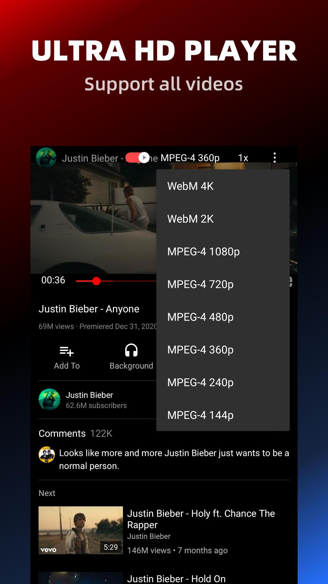Pure Tuber - Block Ads for Video, Free Premium screenshot 4