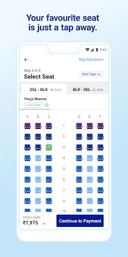 IndiGo-Flight Ticket Booking App 4 تصوير الشاشة