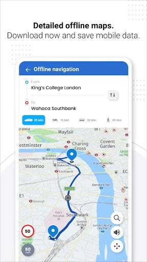 Navegação GPS ao vivo, mapas, direções e explorar screenshot 3